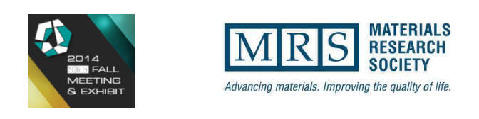 MRS Fall Meeting & Exhibit, Nov 30 - Dec 05, 2014, Boston, Massachusetts