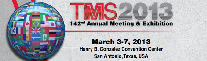 TMS 2013, March 3-7, Henry B. Gonzales Convention Center, San Antonio, Texas, USA
