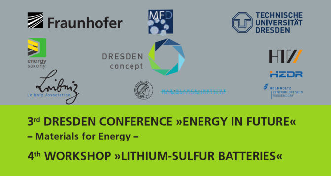 "3rd Dresden Conference ""Energy in Future"" - Materials for Energy - Nov 10-11, 2015, Dresden, Germany"